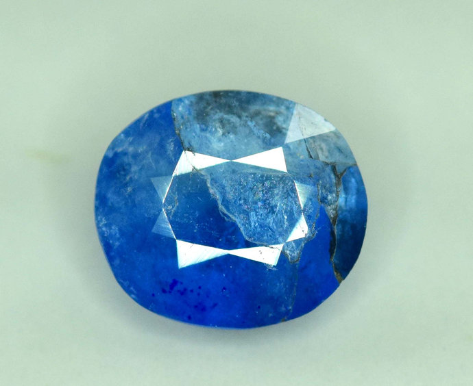 1.45 cts Extremely Rare Blue Color Natural Afghanite Gemstone from Badakhshan