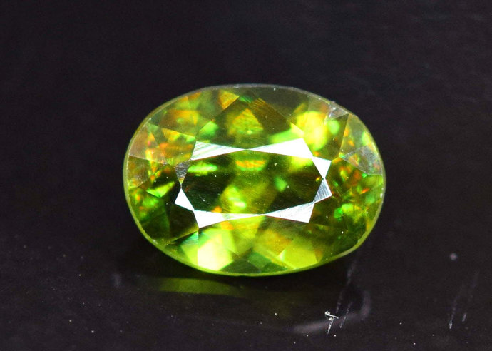 0.95 carats AAA Color Full Fire Natural Chrome Sphene from Skardu Pakistan -