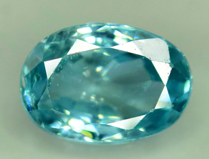 2.95 carats  Blue Zircon Loose Gemstone from Cambodia - 8*6*4 mm