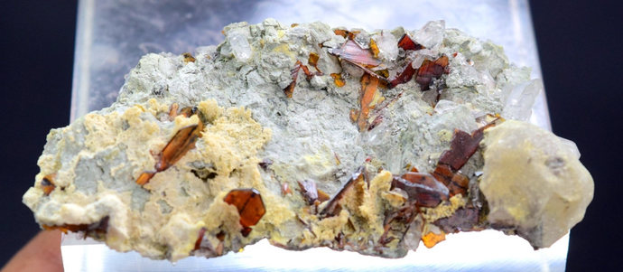 25 Gram Top Grade Brookite Crystals & Quartz on Matrix from Baluchistan Pakistan