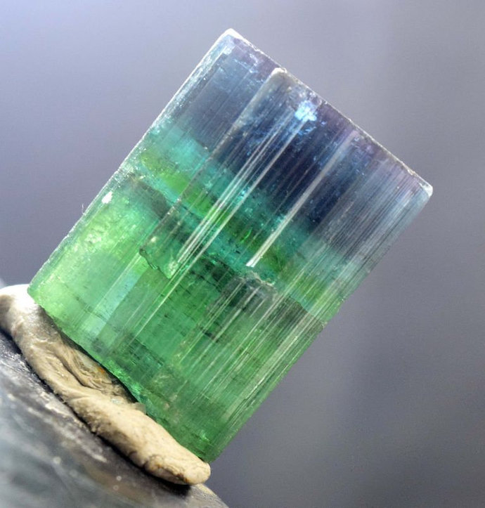27.63 Gram Terminated Blue Cap Natural Tourmaline Crystal from Afghanistan -