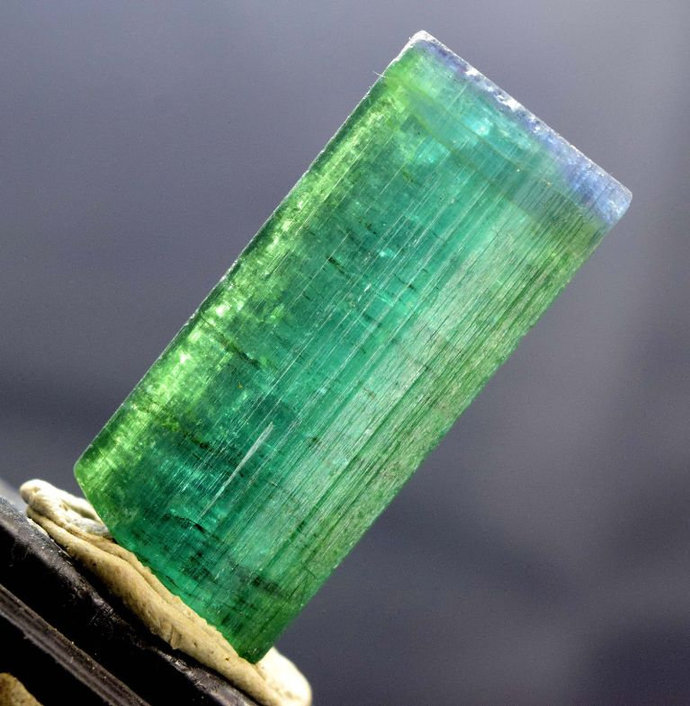 24.71 Gram Terminated Blue Cap Natural Tourmaline Crystal from Afghanistan -