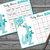 60 blue kangaroo bingo cards,kangaroo baby shower bingo, mom and son Baby Shower