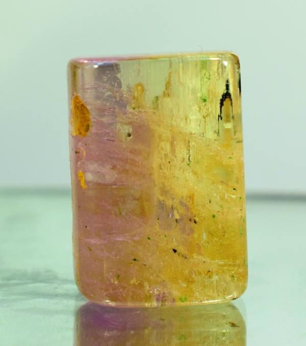 Full Luster & Transparent Bi-colour Natural Kunzite Polished Tumble ~ Healing