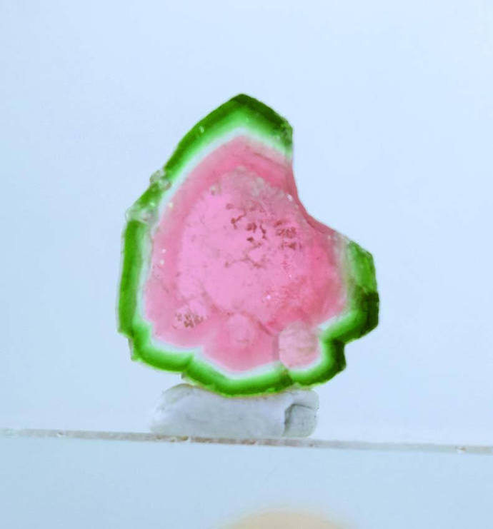 7.45 cts Top Quality Natural Watermelon Tourmaline Slice - 15*12*3 mm