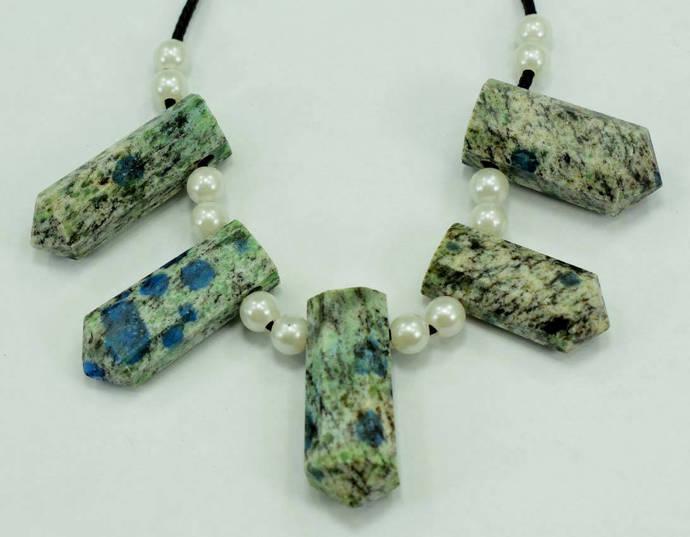 05 Granite with Azurite Inclusions Aka K2NITE drilled Pendants  mp(7)