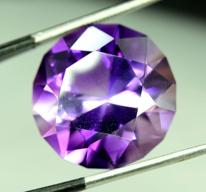 18.90 carats fancy Rose Step Cut  Natural Amethyst Loose Gemstones  from