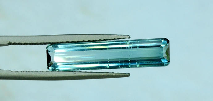 3.15 carats Natural Blue Tourmaline Loose Gemstone from Afghanistan - 17*02*02