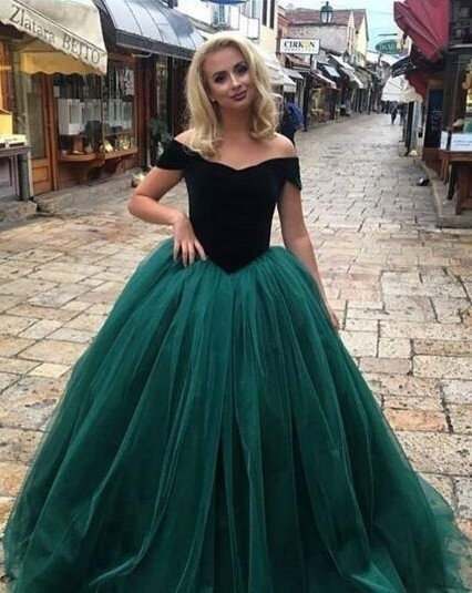 Elegant Tulle Prom Dresses, Cheap prom Dress,Sexy Prom Dress,Charming Simple