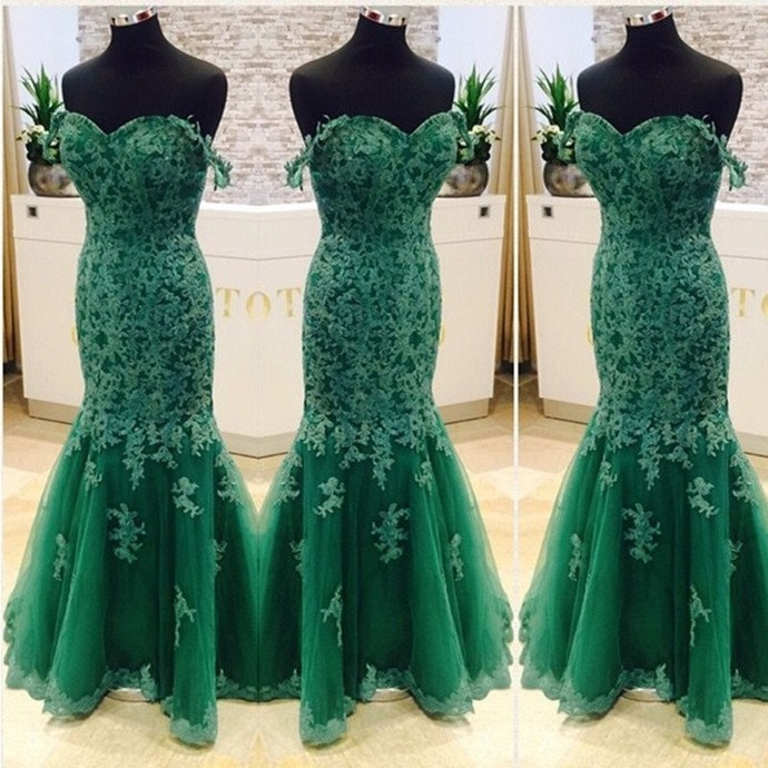 New Design Charming Sexy Mermaid Sweetheart Lace Evening Dress Floor Length Prom