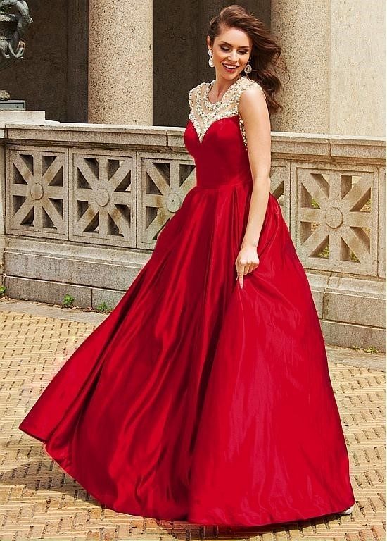 New Red Prom dress,long prom dress,red prom dresses,satin prom dress ,sexy prom