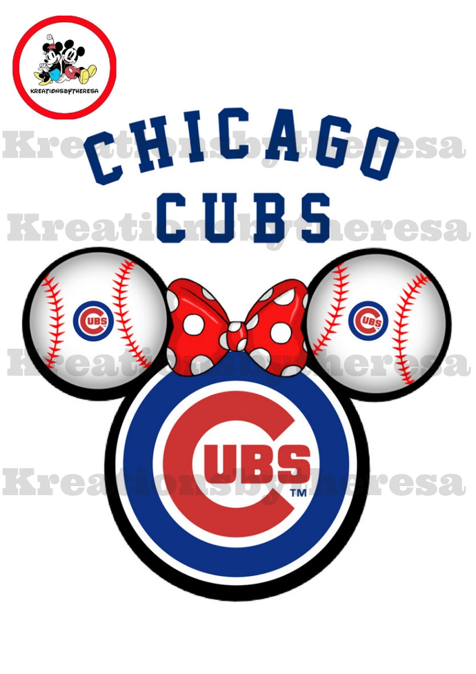 Chicago Cubs Minnie Head Printable Iron By Kreationsbytheresa On
