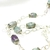 Amethyst and fluorite necklace, February birthstone jewelry, long necklace,