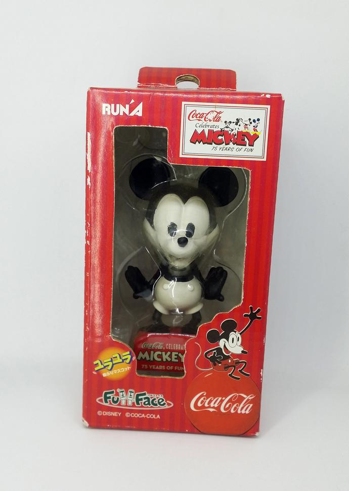 Coca Cola X Mickey Mouse 75th Anniversary (Classic B&W) Bobblehead Figure -