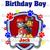 Paw Patrol Chase and Marshall Birthday Boy Iron On Transfer