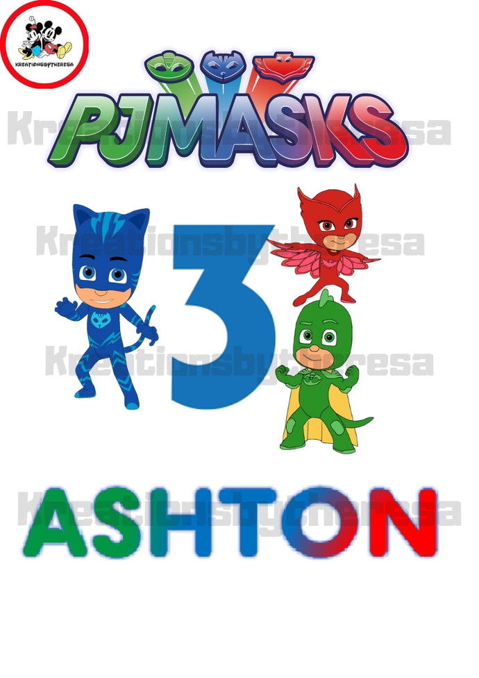PJ Mask Birthday Transfer