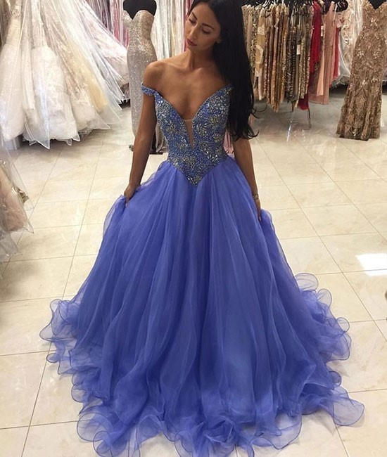 High Quality Quinceanera Dress,Prom Dress,Off Shoulder Organza Quinceanera