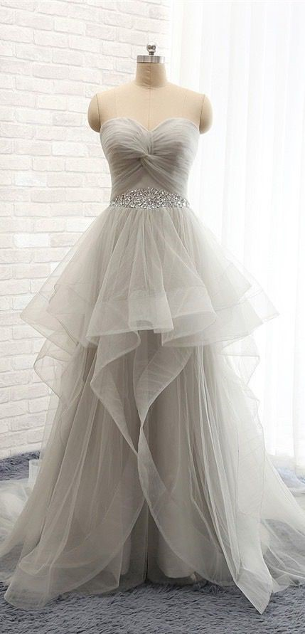 New Fashion, Long, Sweetheart Tulle Prom Dresses, Evening Dresses, Party