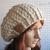 Women's Slouchy Hat Ladies Woman Crocheted Winter Hat Handmade Beret Gray Beige