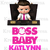Boss Baby Iron On Transfer/Caucasian American Girl / Briefcase