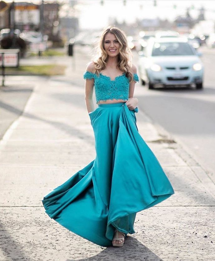 Off Shoulder A Line Prom Dress, Sexy Appliques Long Evening Dress, Girl
