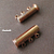 1 pcs Bright Copper Magnetic 3-Strand Slide Clasp