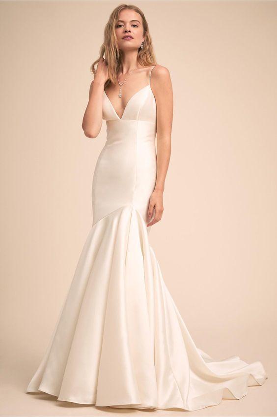 c7774bdeddb1 Sexy Spaghetti Straps Wedding Dress,Mermaid Wedding Dresses, Deep V Neckline