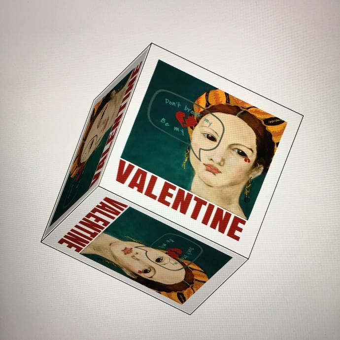 Romantic,Valentine Heart Box digital download, DYI gift box, unique gift boxes,