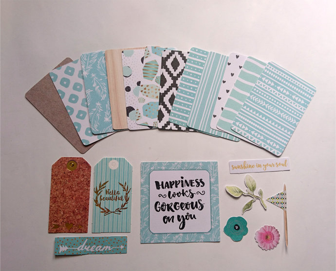12 double sided Pocket Letter Journal Cards with Diecuts