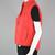 80s Retro Ski Vest Vintage, Puffy Red Western Flare Vest, Sleeveless Nylon