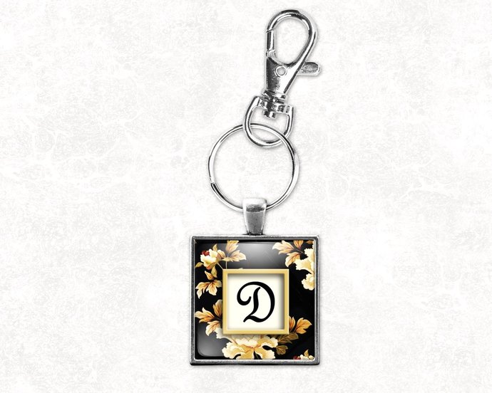 Gift under $25, Personalized gift, personalized purse charm, initial key ring,