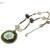 Ceramic pendant necklace, olive green and blue necklace, sea sediment jasper,