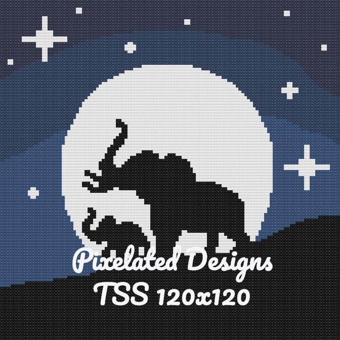 Elephants Twilight Horizon - TSS - Baby 120x120 - Graph w/Written - Full Version