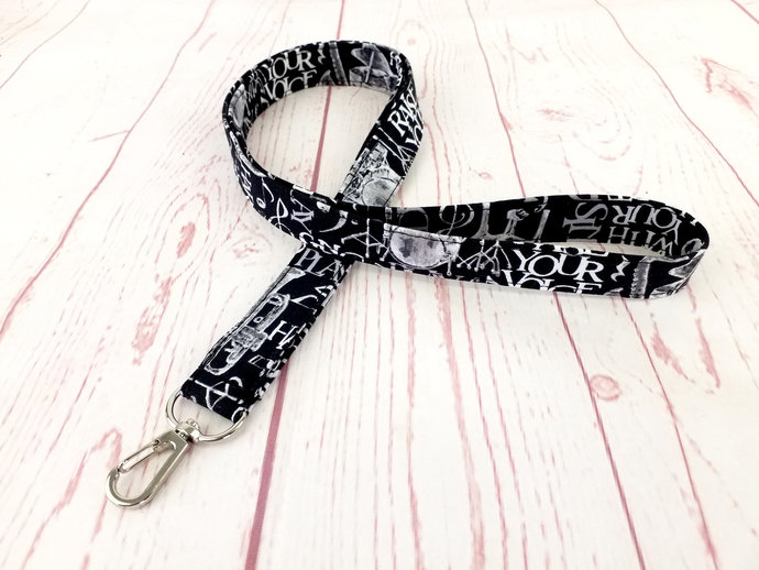 Music Lanyard ID Badge Holder