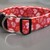 Red & Pink Sparkly Valentines Day Hearts Adjustable Dog Collars & Martingales &