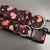 Black & Pink Sparkly Valentines Day Hearts Adjustable Dog Collars & Martingales