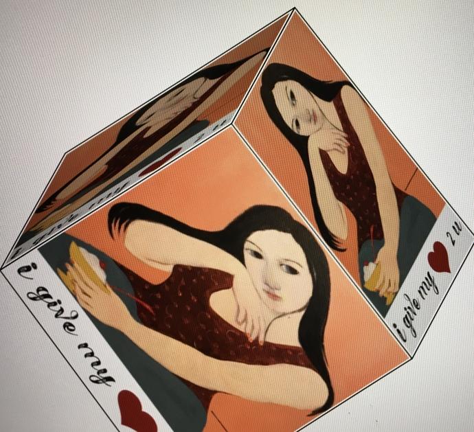 Give my Heart 2 u valentine gift box digital download, instant art, Valentines,