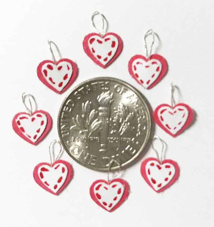 PDF Heart Ornaments for miniatures and dollhouses 1:12