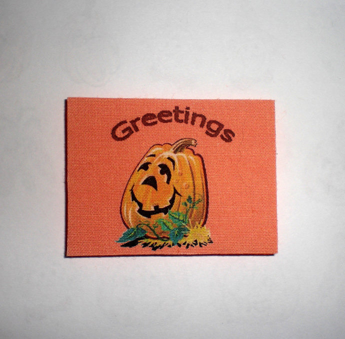 Dollhouse Welcome Mat for Autumn - Fall- Halloween - pumpkin orange