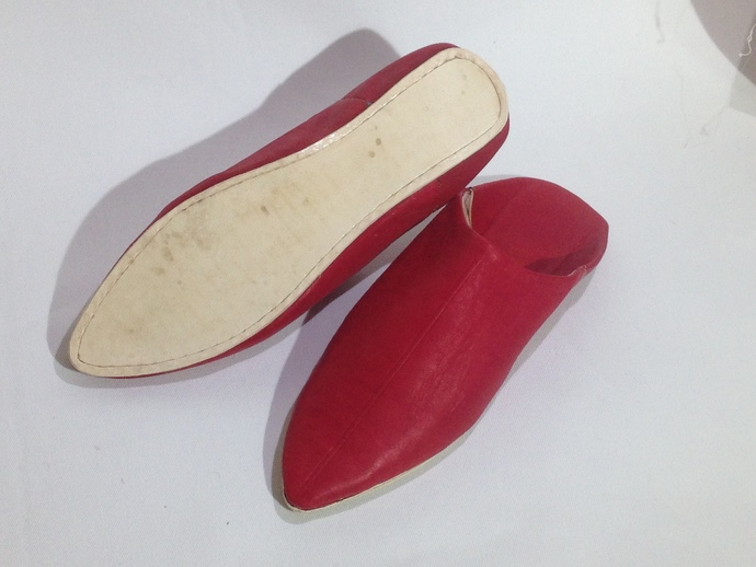 f9924544b13 red slippers babouche handmade by craftsman jamal on Zibbet
