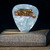 Commemorative  guitar pick and display case: Johnny Winter