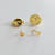 10 Gold Plated Round, Squeeze Clutch Back, Blank Tie Tack Lapel Pins Clutch
