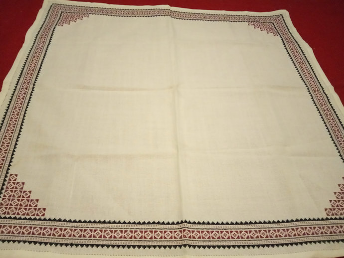 Table Cover Hand Embroidered, Kitchen Table Vintage Decor, Table Scarf