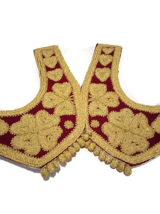 Vest Hand Embroidered Gold Thread. Ottoman Style Women Vest, Vintage Unique Vest