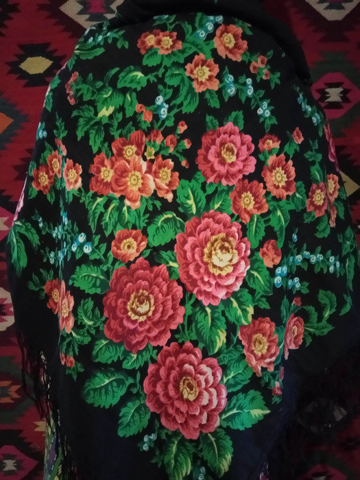 Women Big Cashmere Scarf, Colorful And Elegant Scarf, Cashmere Shawl
