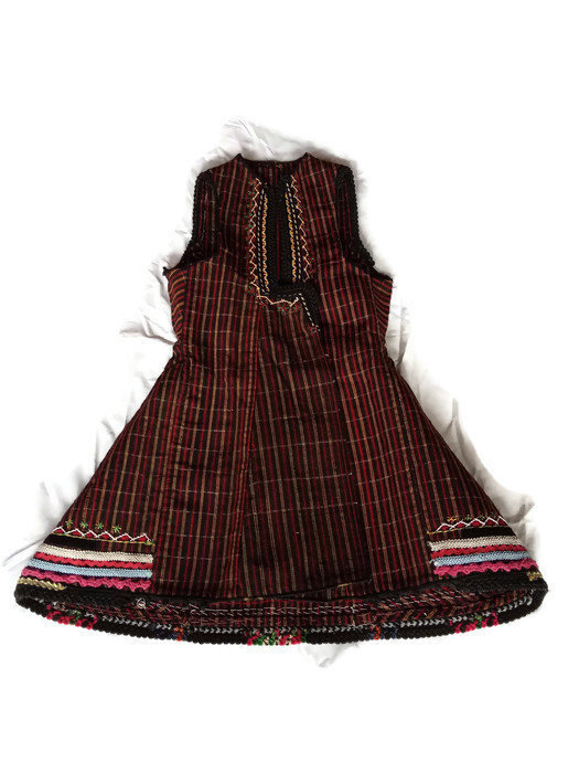 Traditional Antique Macedonian Women Vest With Colorful Ornament, Simple pattern