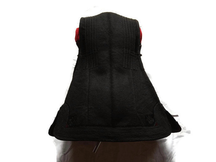 Black Vest Vintage And Handmade, Traditional Folklore Vest Made From pure Wool,