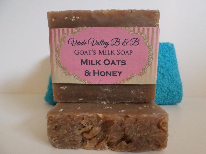 Oats Milk & Honey Soap, Oatmeal Goat Milk Bar Soap, Goat Milk Soap, Goat Milk