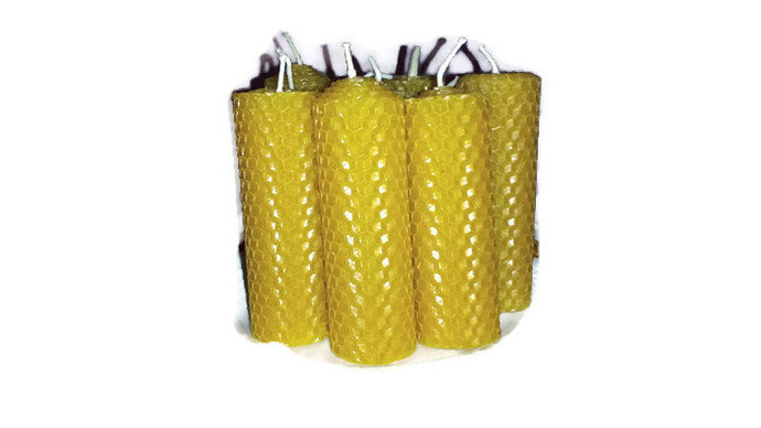Beeswax Pillar Candles. Handmade. Gift from nature. Hypoallergenic and