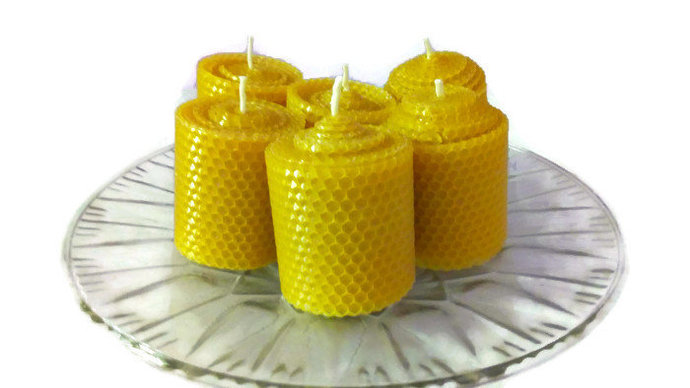 Beeswax candles, Set of 10 candles. Natural, pure beeswax. Eco friendly